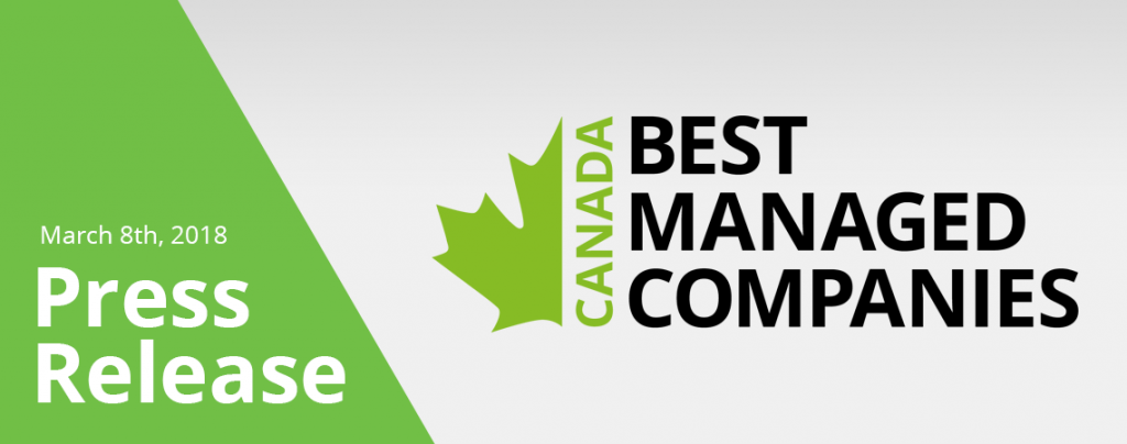 Pestell Minerals & Ingredients is a 2018 Winner of the Canada's Best Managed Companies Program